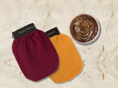 Kit rituale hammam, sapone nero e guanto di kassa