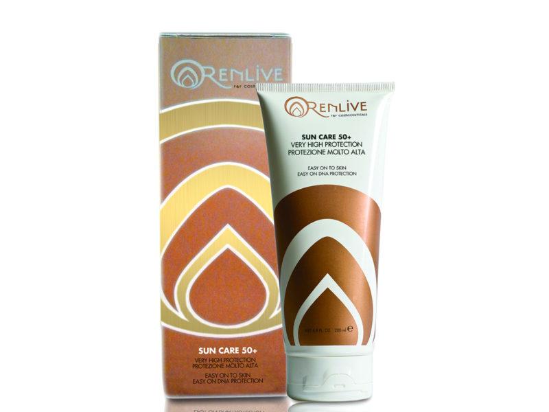 Protezione solare viso e corpo SPF50+, Renlive cosmetici