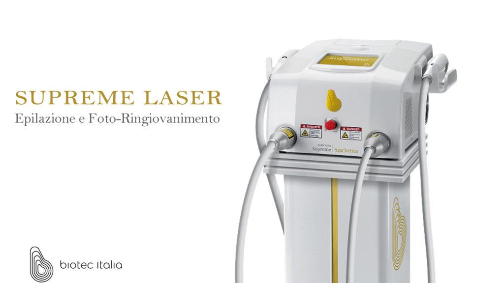 Supreme, il nuovo laser per l'epilazione e Foto Ringiovanimento